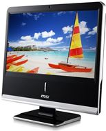 "Ordenador Sobremesa AIO MSI Wind Top AP1920 Serie Professional, LCD 18.5"" 1366x768, 16:9, Intel® Pinetrail D525 1.8GHz, 2GB DDR3, 320GB SATA2, Intel® GMA3150, WiFi, Webcam, DVD Multi, Negro"