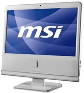 "Ordenador Sobremesa AIO MSI Wind Top AP1920 Serie Professional, LCD 18.5"" 1366x768, 16:9, Intel® Pinetrail D525 1.8GHz, 2GB DDR3, 320GB SATA2, Intel® GMA3150, WiFi, Webcam, DVD Multi, Blanco"